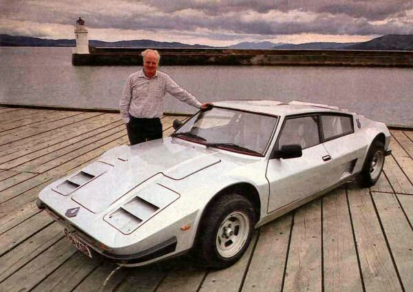 Bob Henderson proudly stands alongside his very singular creation...more Argyll Turbo GT