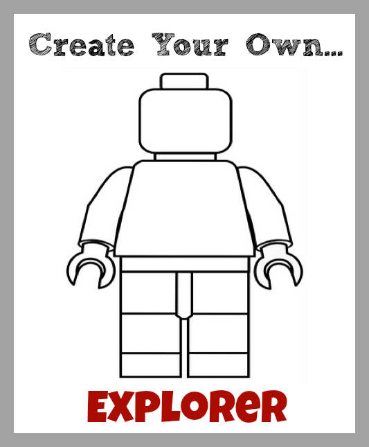 Create Your Own LEGO Minifigures Printables: For Boys