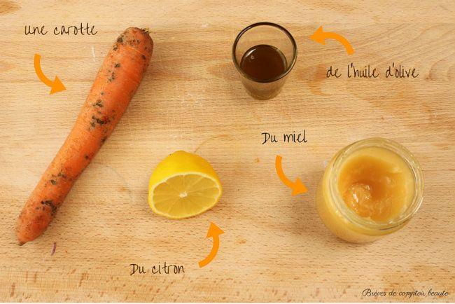 masque visage maison masque à la carotte pour un effet bonne mine