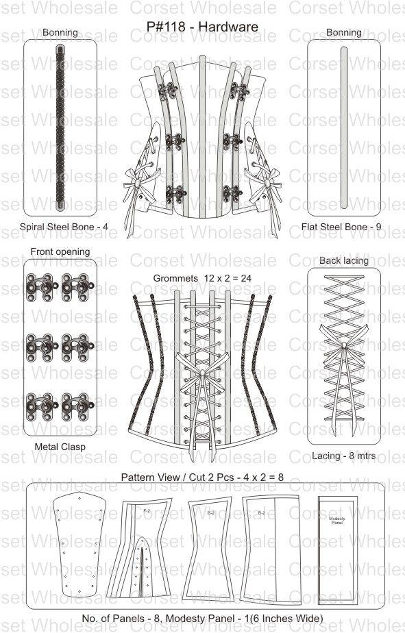 CD-1463-PO:Corset: Steampunk Brocade Underbust Corset | vestuario y ...