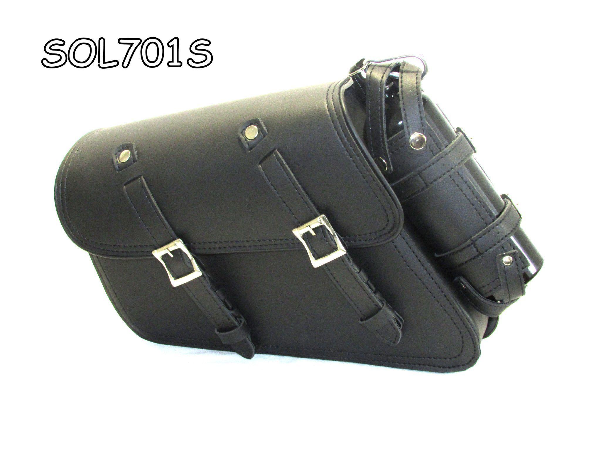 Motorcycle Side Saddle Bag Pannier /& Bottle Holder For Harley Davidson Sportster