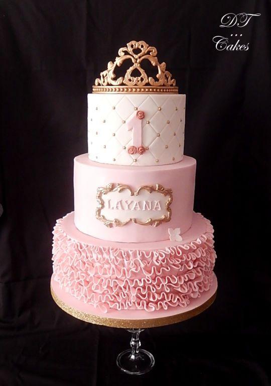 Little Princess Pink Birthday Cake Wedding Party Celebration