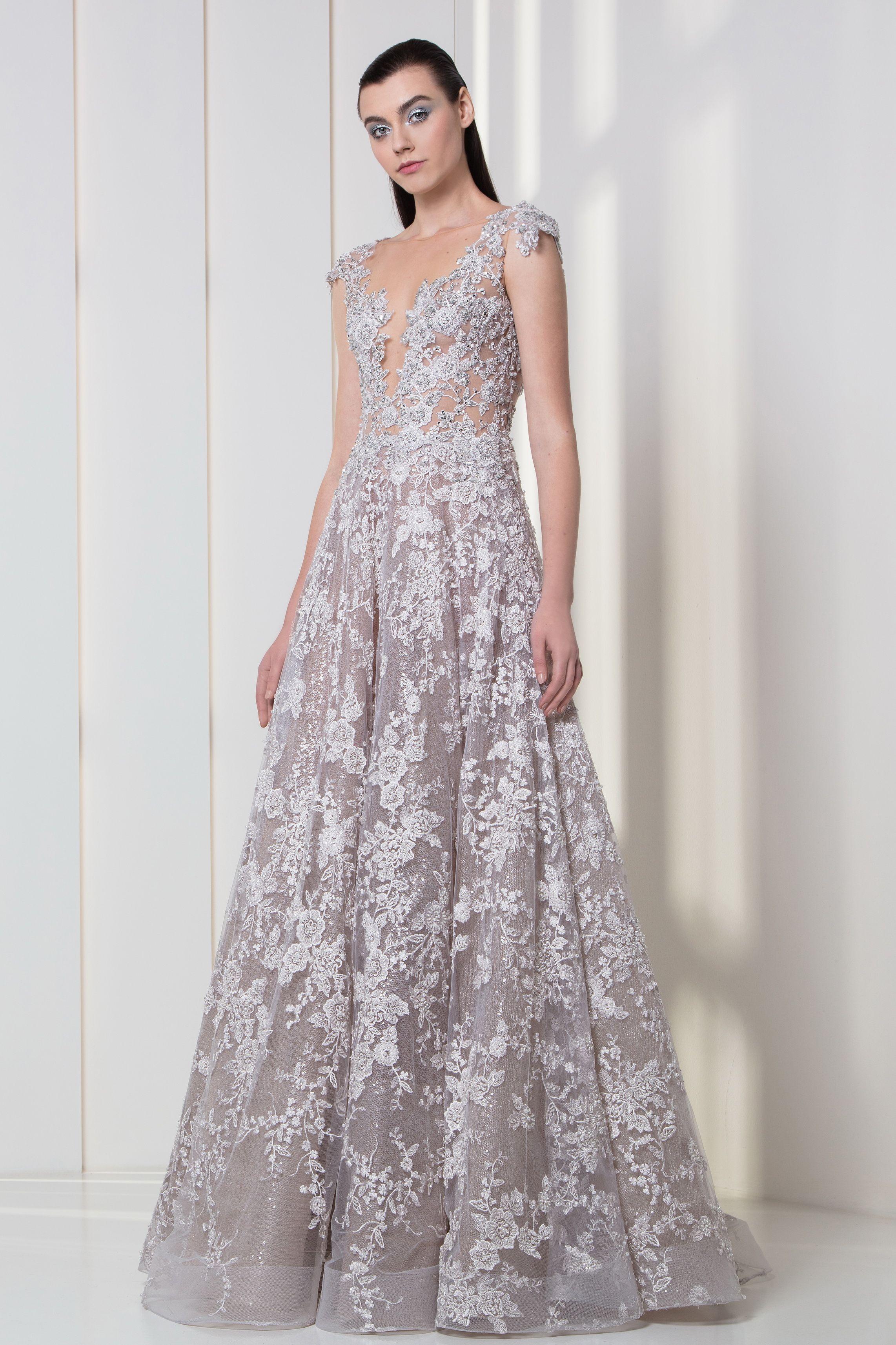 457b83e86a Tony Ward RTW FW 17 18 I Style 36 I Silver lilac dress in tulle ...
