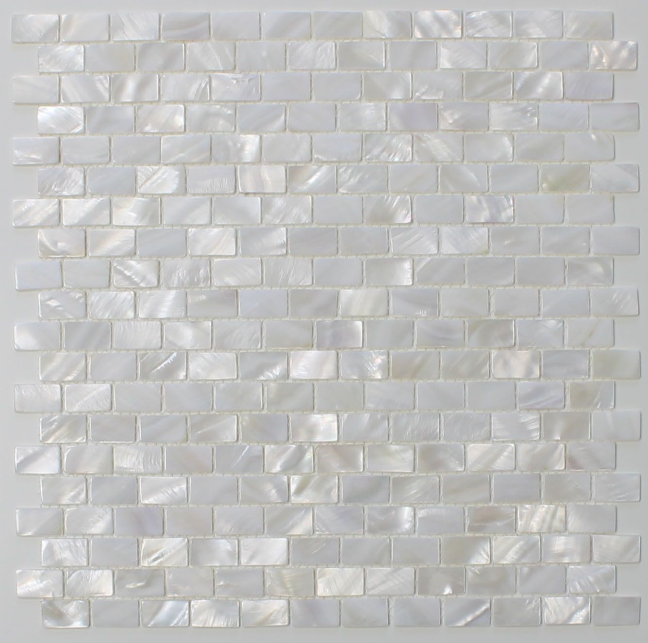 Mother of Pearl Oyster White Small Subway Mosaic Tiles | Oysters ...