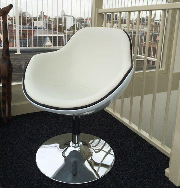 Fauteuil Design Kok Pivotant Blanc Style Retro Stoelen Design Zwart
