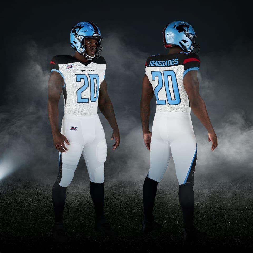 Xfl 2020 Dallas Renegades Away Uniforms Team Uniforms Xfl Teams Football Uniforms