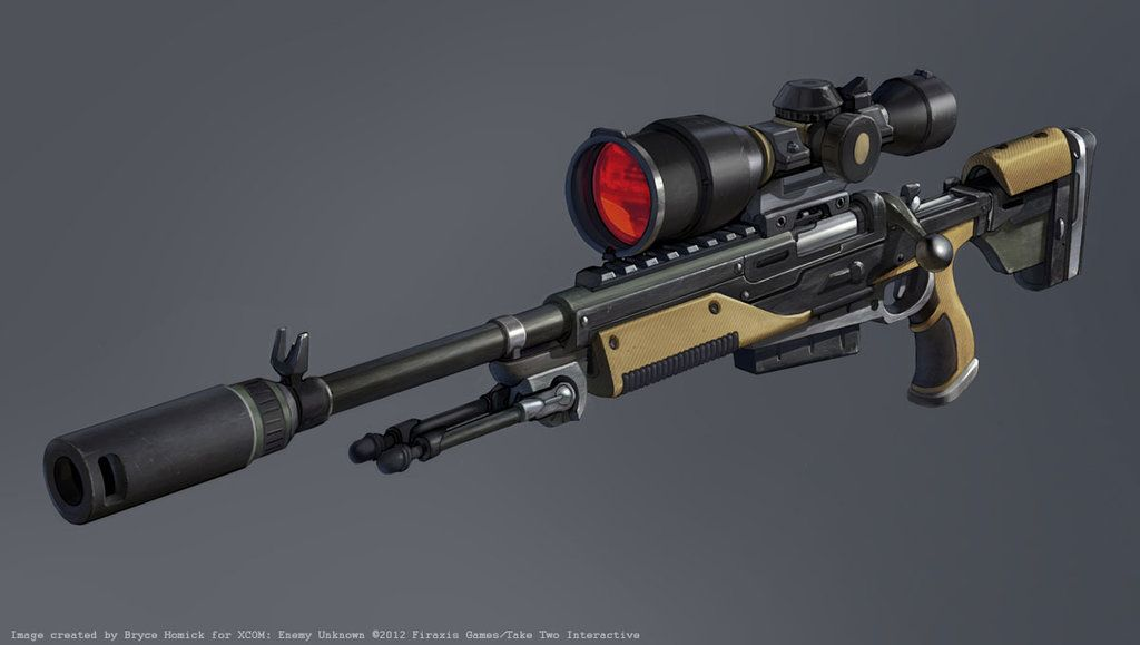xcom sniper rifle concept by zombatdeviantartcom on