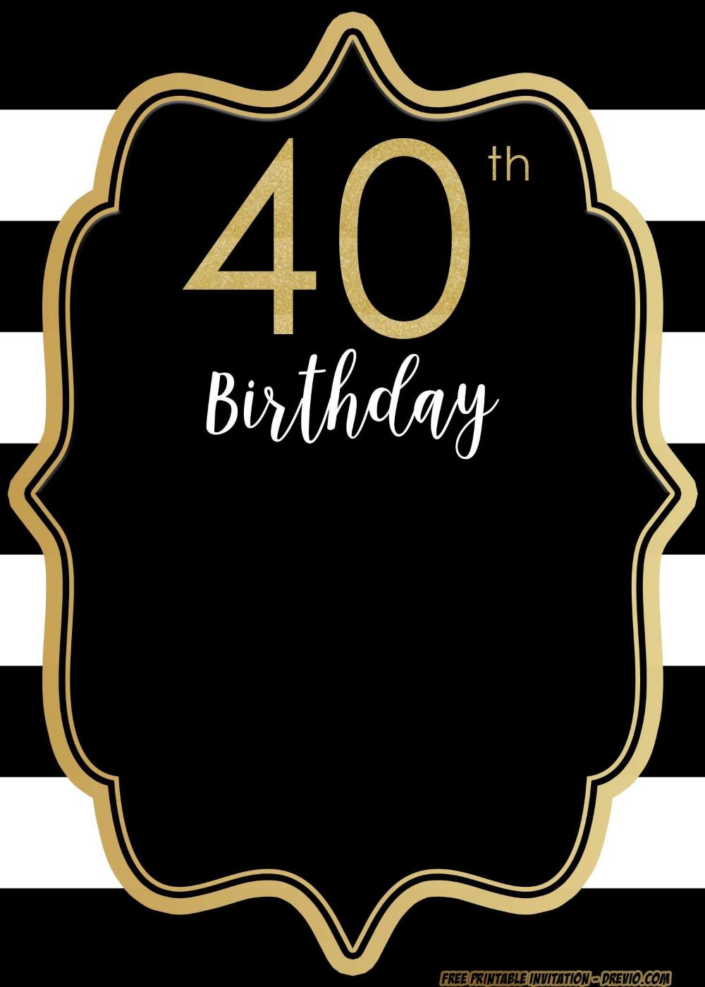 Einladung Geburtstag Einladungskarten 40 Geburtstag Kostenlos Ausdrucken Geburstag Einladungskarten 40 Compleanno Compleanno Maschile Inviti Di Compleanno