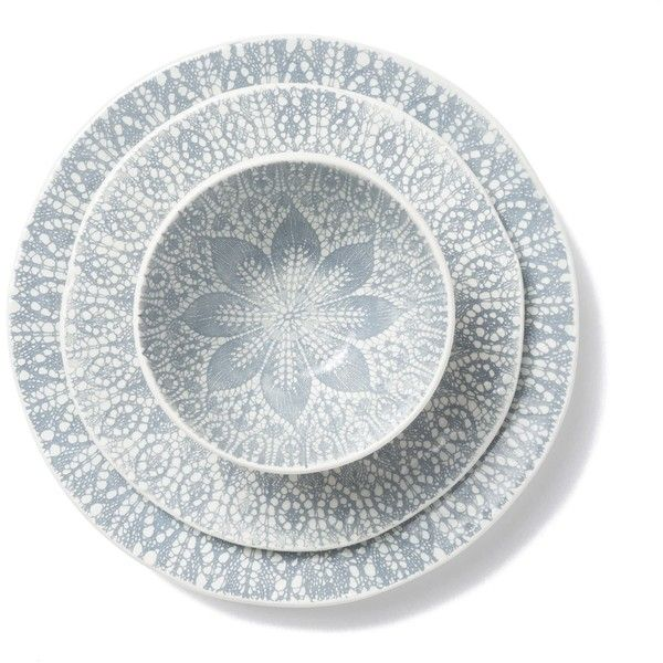 Lace Gray 3-Piece Place Setting ($86) ? liked on Polyvore featuring home  sc 1 st  Pinterest & Lace Gray 3-Piece Place Setting ($86) ? liked on Polyvore featuring ...