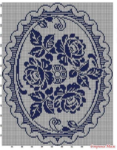 филейное вязание крючком схемы мотивы из цветов роз филейные