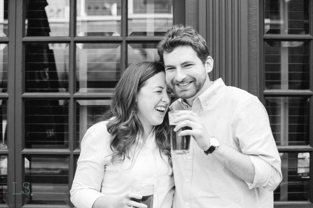 If you are nervous for your engagement session...just get a beer (or wine) first. It will calm those butterflies!