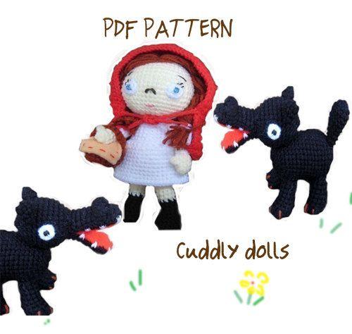 Amigurumi Crochet Dolls PDF Pattern A little red