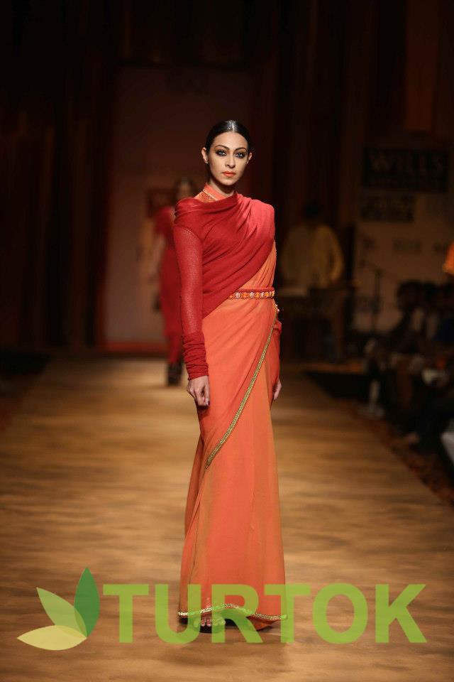 Wills India Fashion Week, 2013 Day 2 - Tarun Tahiliani's Show. Join us at www.turtok.com