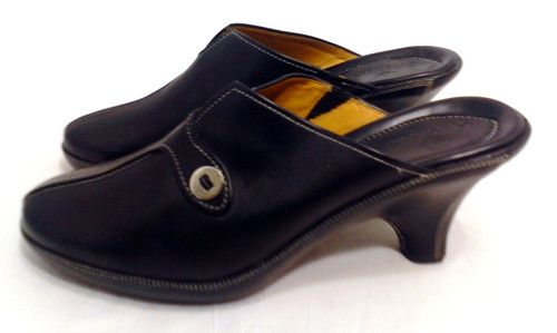 Cole Haan Black Leather Mules Shoes Size 8B Womens Slides,3