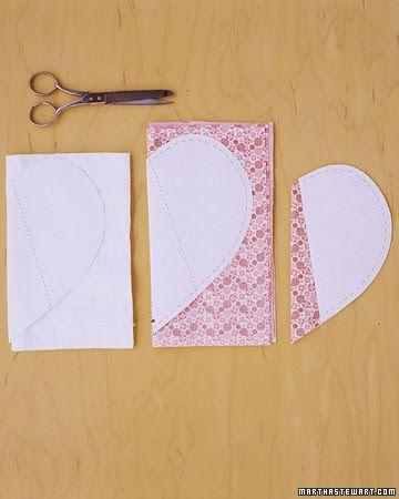 Pegador de panela em forma de coração! Costura fácil de fazer! Molde e passo a passo