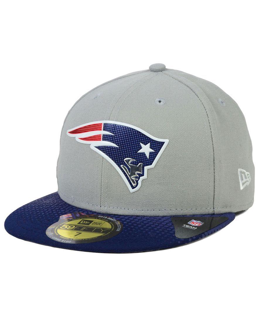 New Era New England Patriots 2015 Draft Gray 59FIFTY Cap