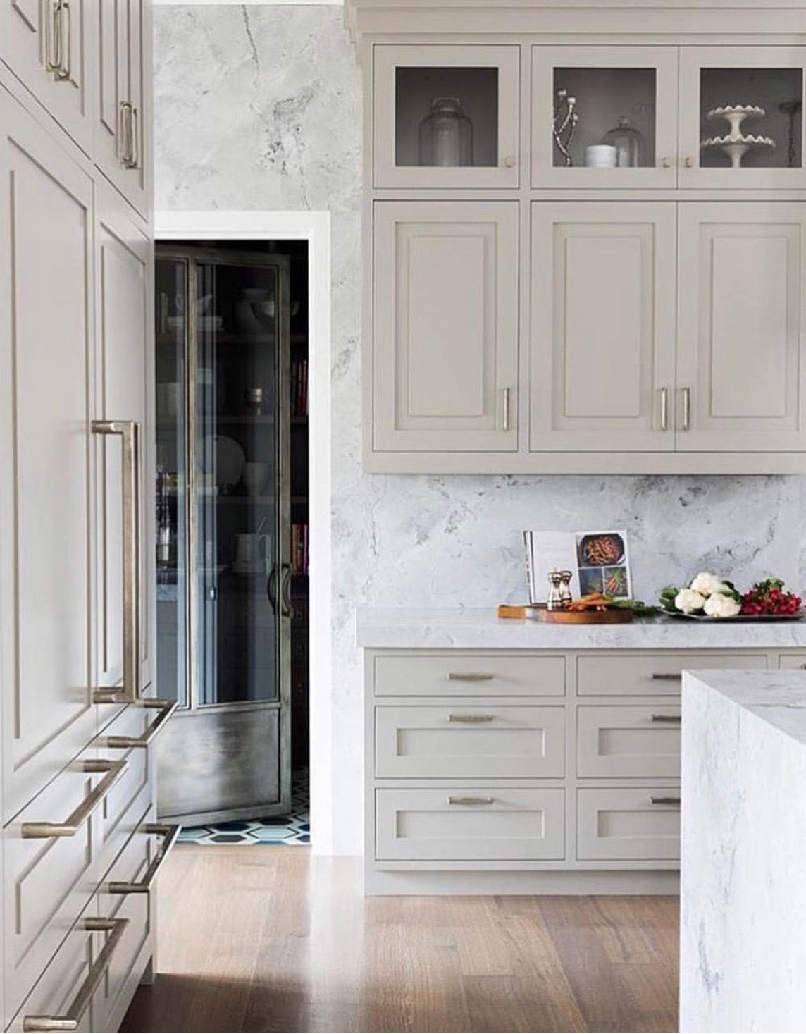 Do Marble Wallpaper On Walls And Continue On Backsplash Maybe Luxury Kitchens Home Kitchens Home Interior Design