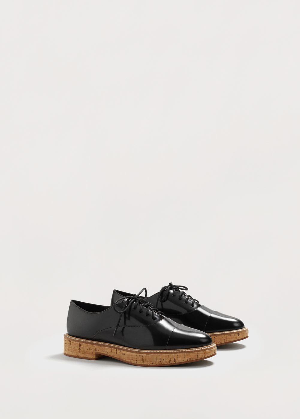 Lace-up oxford shoes - f foFlat shoes Women | MANGO USA