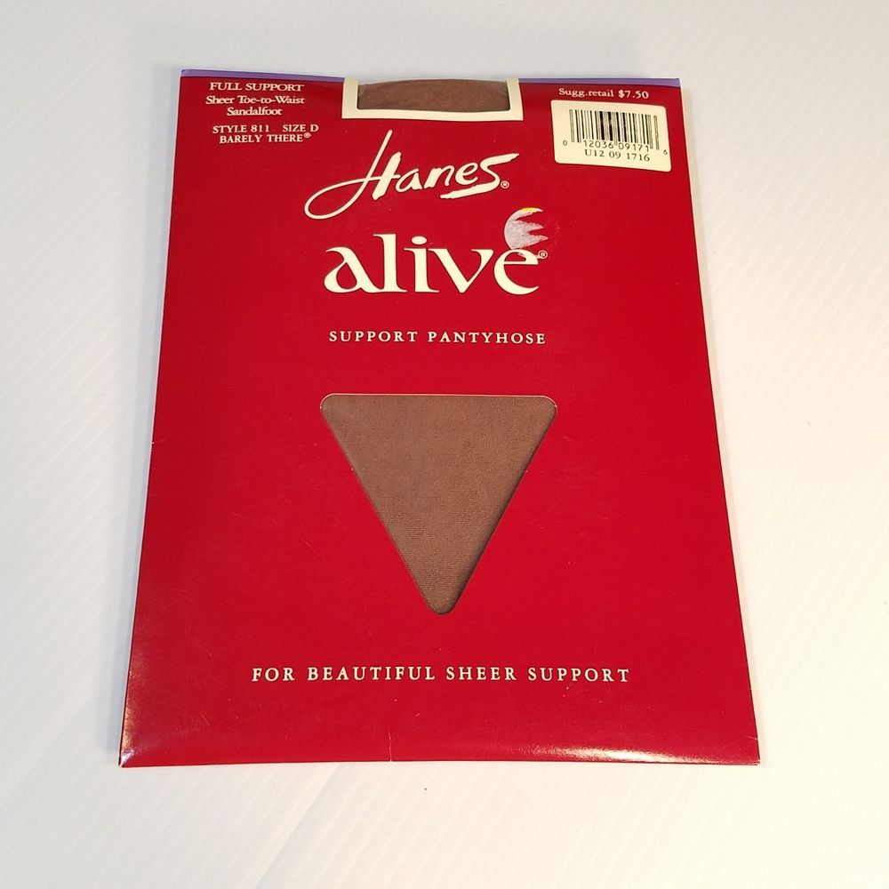 219fe7b151 Hanes Alive Sheer to Waist Pantyhose style 811 Full Support Barely There  Size D #Hanes #Pantyhose
