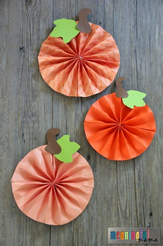 DIY Paper Pumpkin Pinwheel Fan Craft Tutorial For Kids And Adults