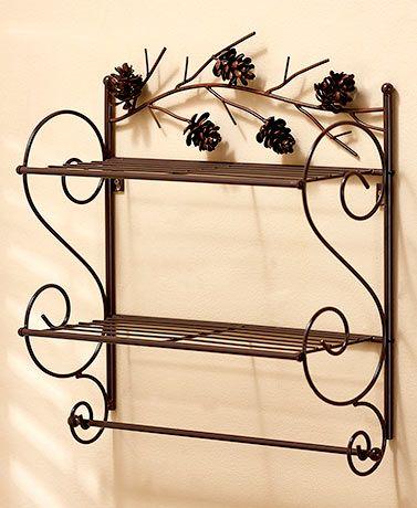 Metal Pine Cone Bath Furniture