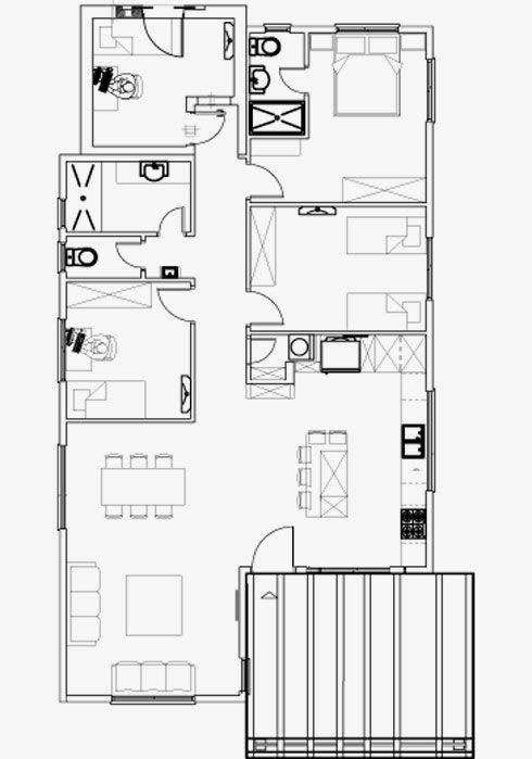 הבית הגיע מוכן: 120 מטרים רבועים ו-80 אלף שקלים לעיצוב