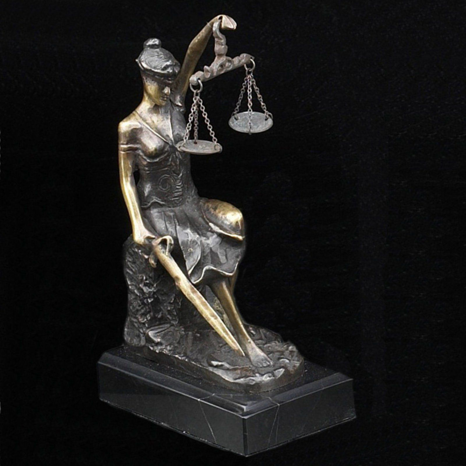 Marble Lady Justice Statue