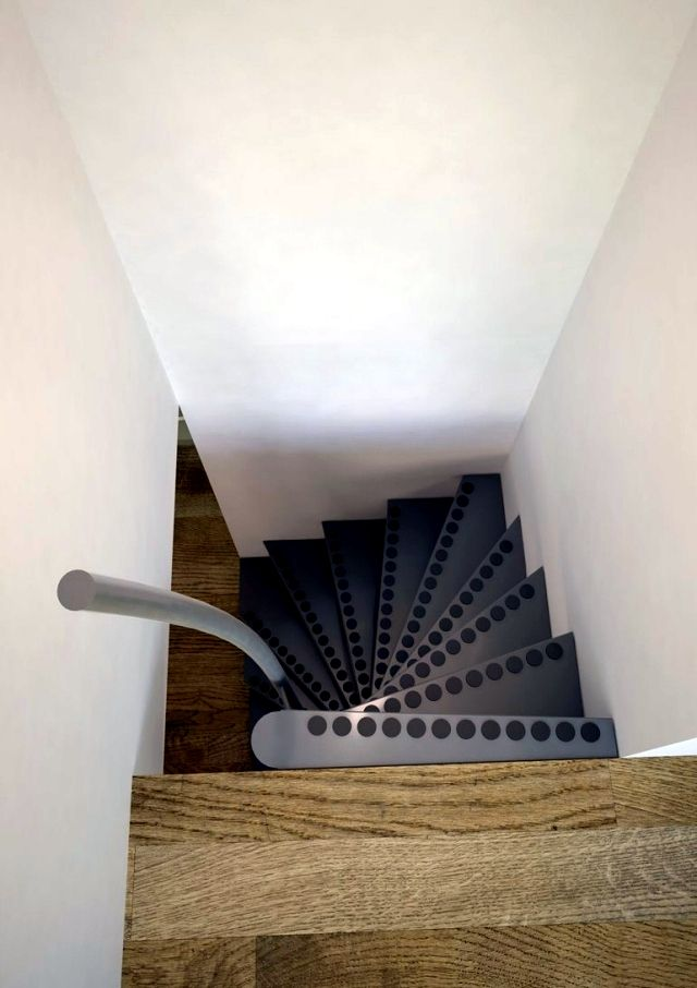 Square Spiral Staircase 1m2 ® With Small Dimensions