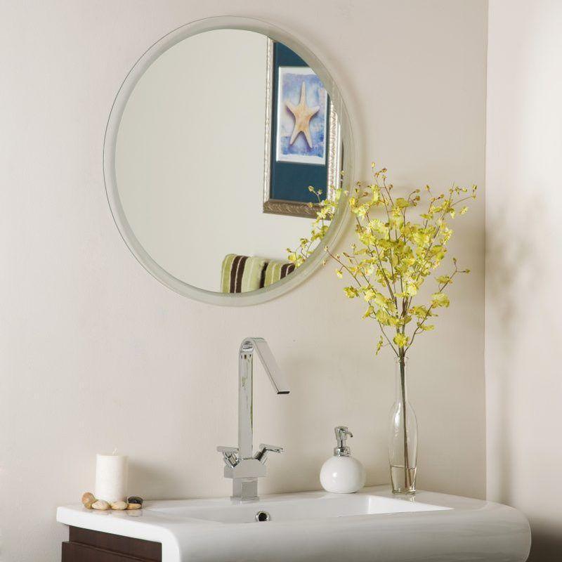Circular Clic Multi Inset Beveled Frameless Wall Mirror