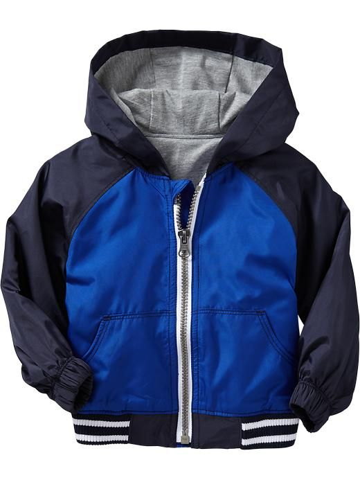 e2a8e5dca Color-Blocked Hooded Windbreakers for Baby