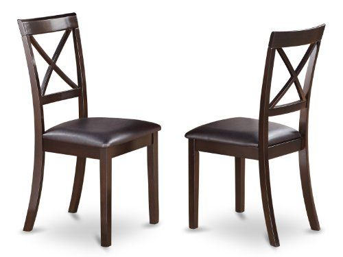 East West Furniture BOCCAPLC XBack Chair Set for Dining Room with Faux Leather Seat Set of 2 ** You can get more details by clicking on the image-affiliate link.
