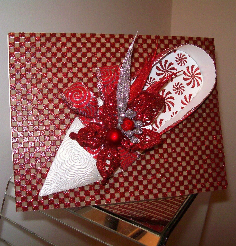 Holiday Victorian Slipper Greeting Card Keepsake Christmas Gift