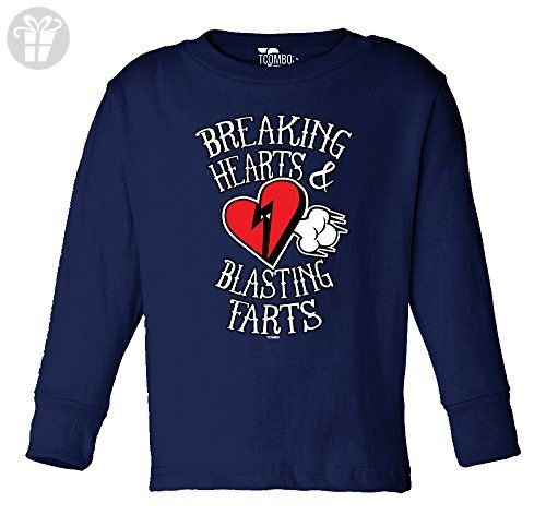 37517f58372d Breaking Hearts And Blasting Farts TODDLER Little Boy Long Sleeve T-shirt  (2T