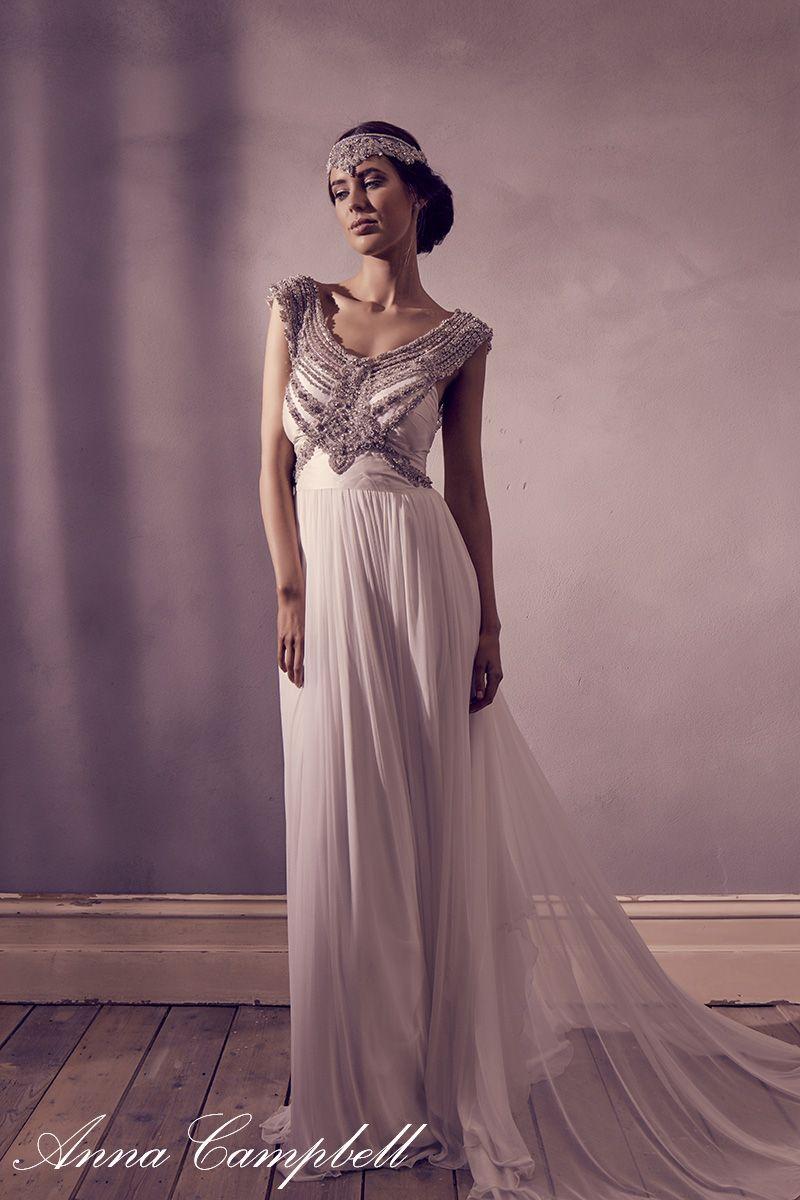 Bonito Precios De Vestidos De Novia Anna Campbell Ideas Ornamento ...