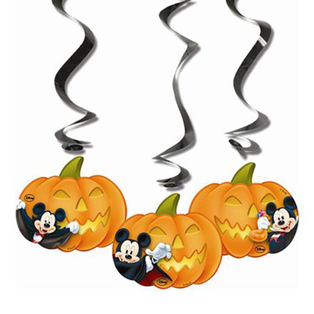 3 Halloween Disney Mickey Mouse Party Hanging Cutout
