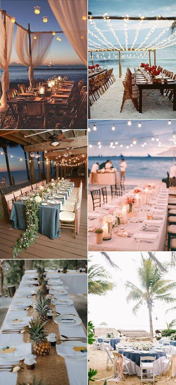 Photo of trending beach wedding reception ideas #beachwedding