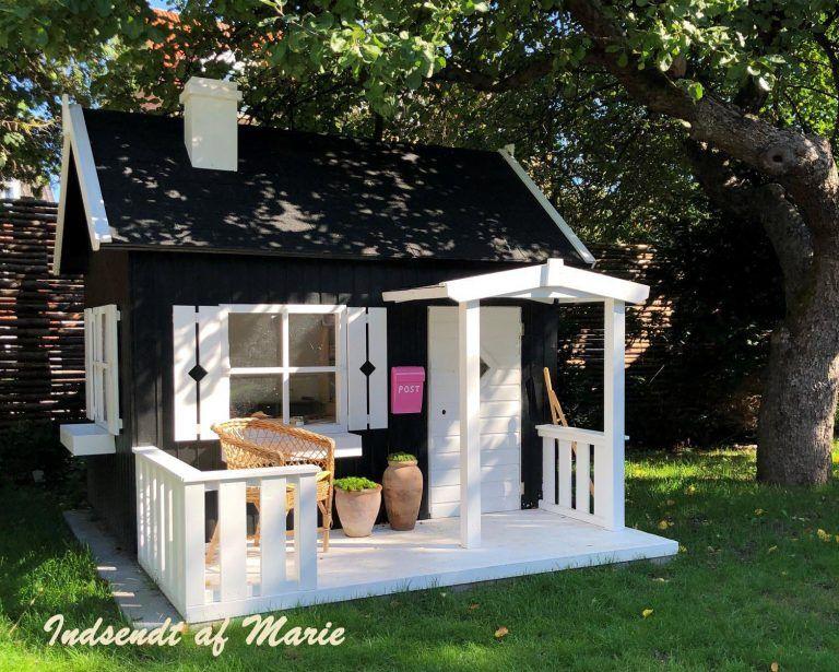 Sølund huse Lille Otto et stort legehus i træ med terrasse  Se tilbud