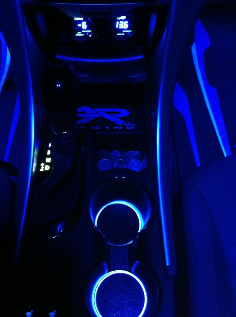 Blue Tron Like Cup Holder Lights Led Lighting Cars Light Fixtures