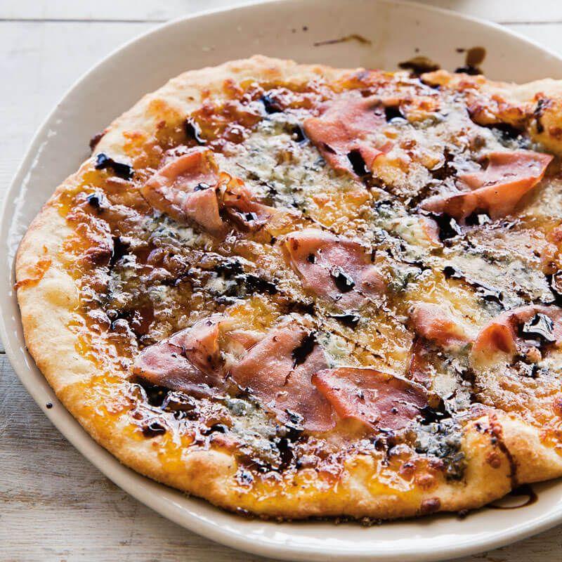 Fig Jam Gorgonzola And Prosciutto Pizza Prosciutto Pizza Food