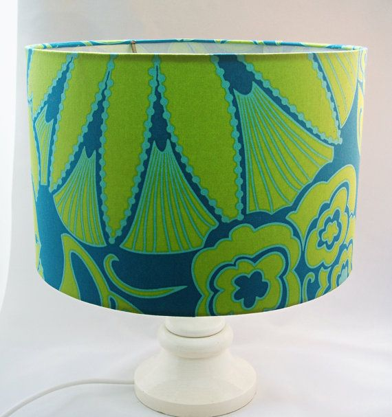 Sea green blue drum lampshade ceiling lamp shade table lamp sea green blue drum lampshade large by a shade brighter on etsy large 30cm aloadofball Choice Image