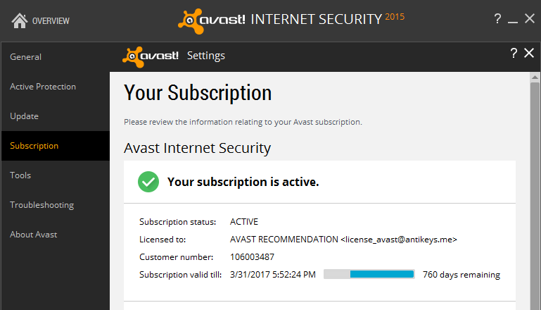 Avast Internet Security License Key Till Full Free - My invoices and estimates deluxe license key free