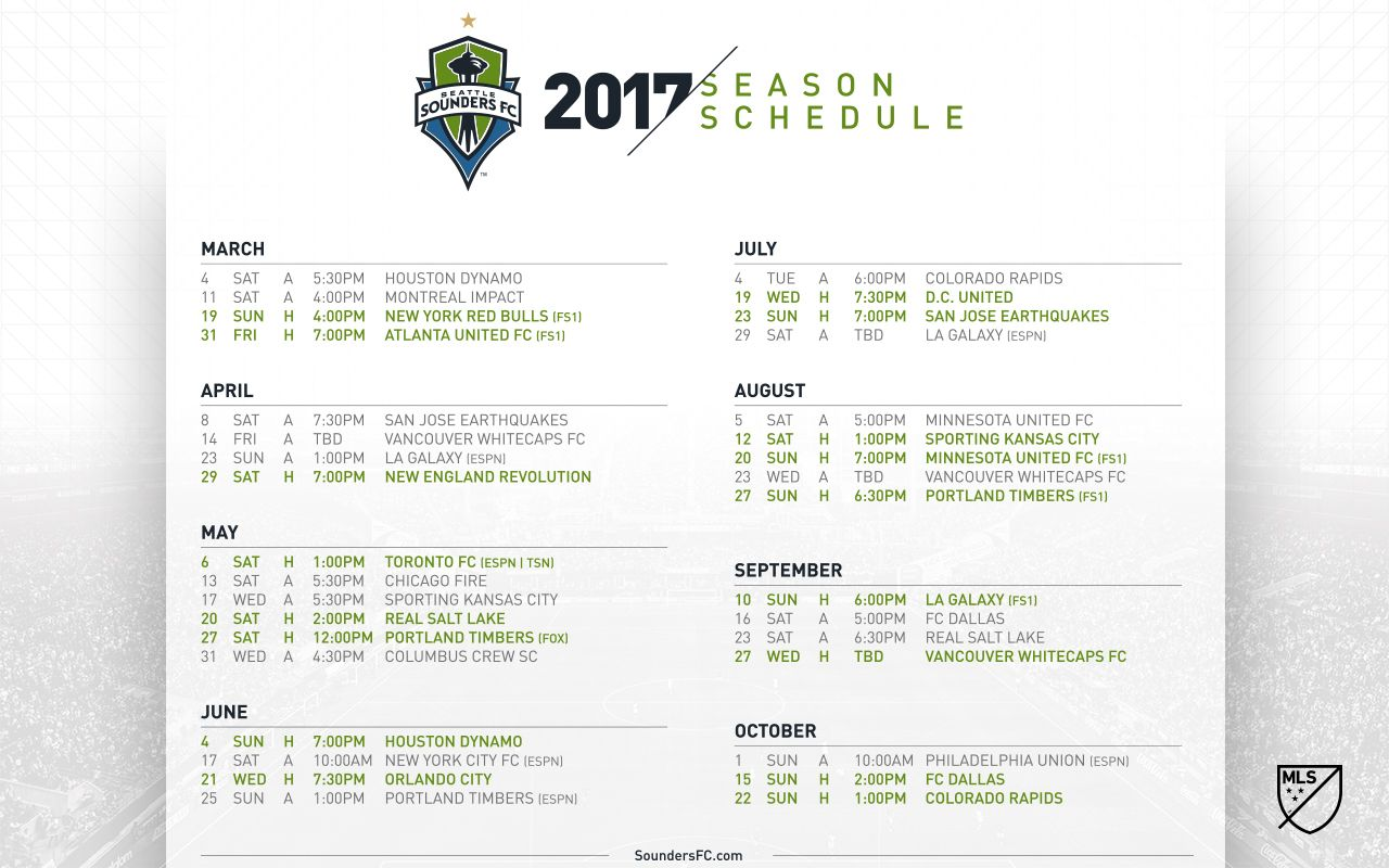 sounders fc 2017 schedule wallpaper | seattle sounders fc | lucky me