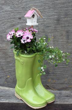 Ceramic Wellies Google Search Art Spring Garden Easter