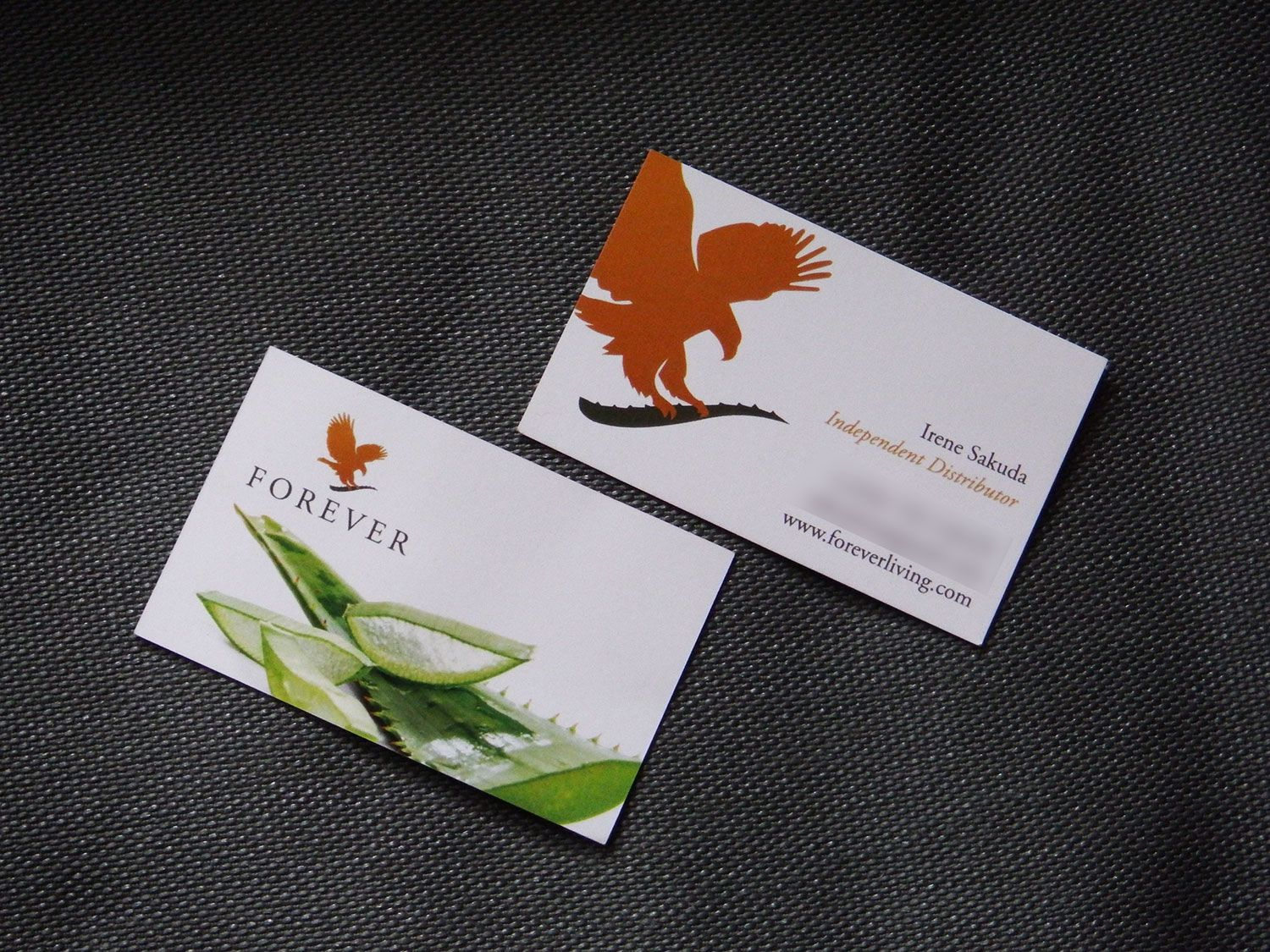 Client Forever Living Business Card (front) created by me at Nic\'s ...