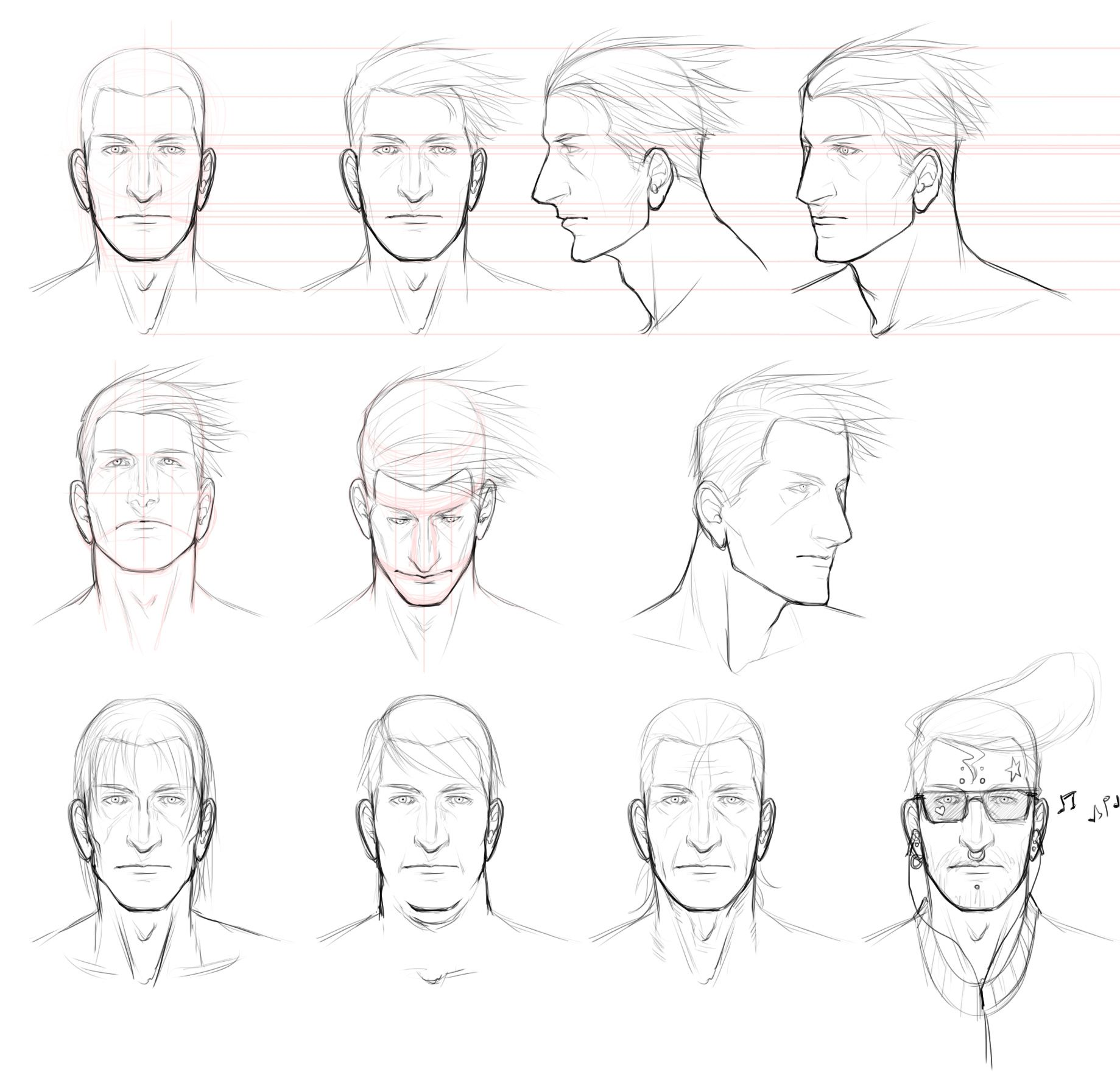 Male Face Study By Angelus Tenebrae On Deviantart Male Face Drawing Face Drawing Reference Face Drawing