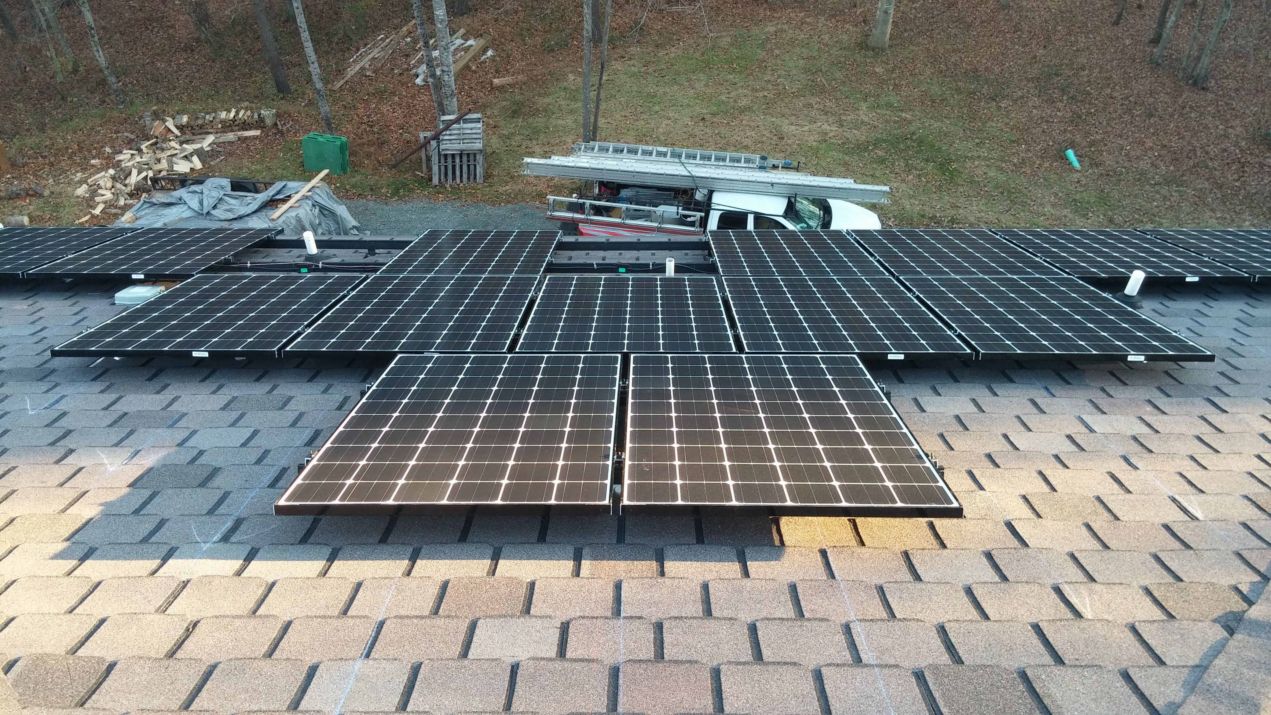 A Home In Germanton Nc Goes Solar With A 3 64 Kw Solar Array Roof Solar Panel Solar Solar Panels