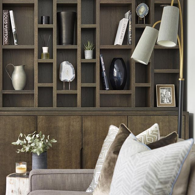 Bespoke Shelving Unit In The Corner Of The Room- Less Is