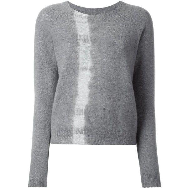 Suzusan 'Makiage Shibori' jumper ($555) ❤ liked on Polyvore featuring tops, sweaters, grey, gray top, grey top, cashmere jumpers, grey cashmere sweater and grey sweater