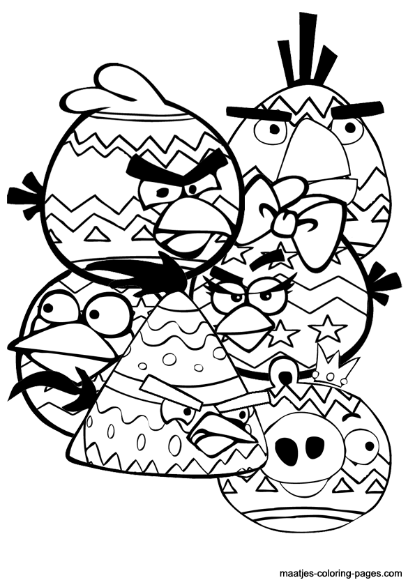 free printable angry birds easter coloring pages for kids - Angry Birds Free Printable Coloring Pages