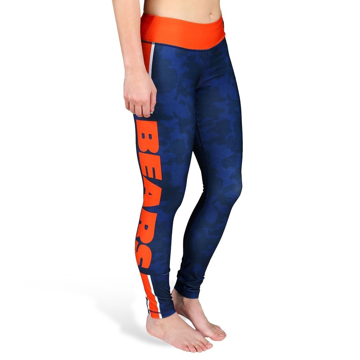 fb72a81d Chicago Bears Official NFL Team Logo Womens Stripe Leggings | Ideas ...